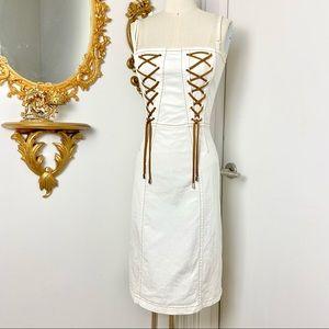 90s D&G Lace Up Bodycon Dress